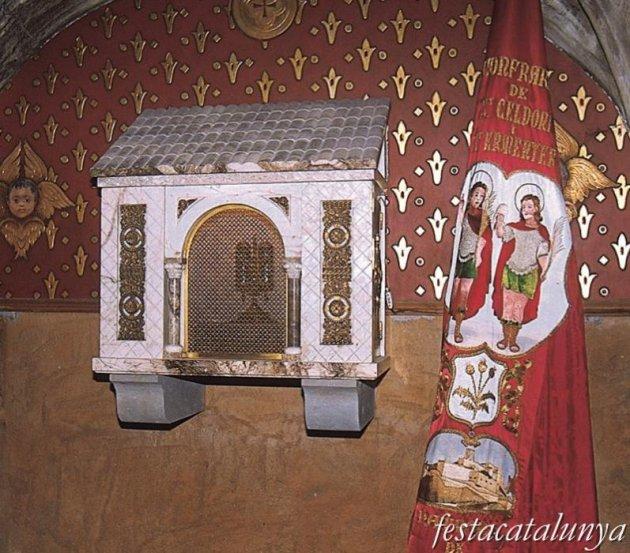 Cardona - Església parroquial de Sant Miquel, relíquies de Sant Celdoni i Sant Ermenter