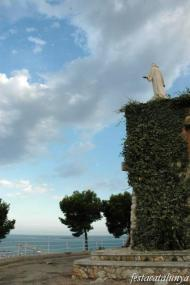 Sant Carles de la Ràpita - Torreta o Guardiola i imatge del Sagrat Cor