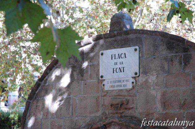 Torà - Plaça de la Font