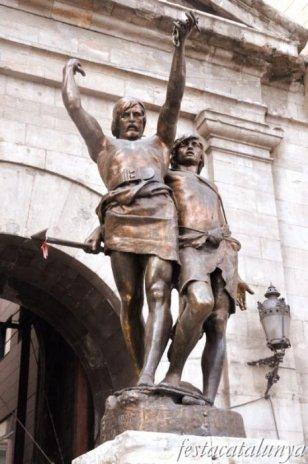 Lleida - Monument d'Indibil i Mandoni
