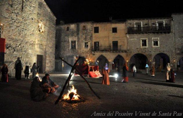 Santa Pau - Pessebre Vivent (Foto: Amics del Pessebre Vivent de Santa Pau)
