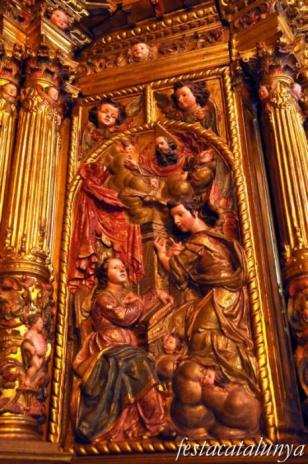 Tiana - Retaule del Roser a l'església parroquial de Sant Cebrià