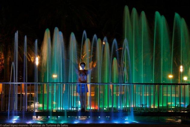 Salou - Font lluminosa i cibernètiques del Passeig Jaume I (Foto: Ajuntament de Salou)