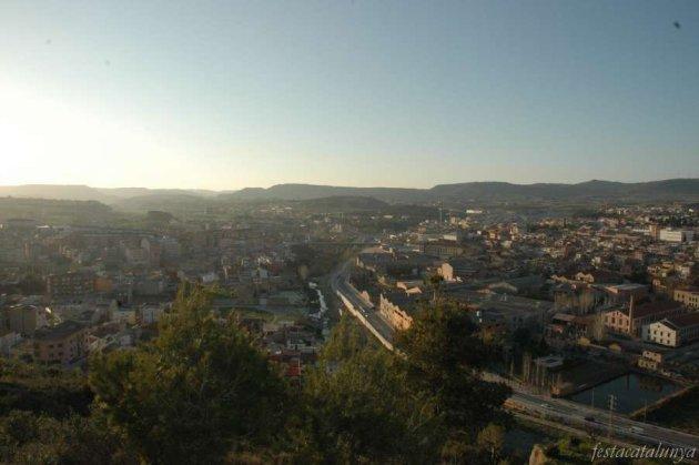 Santa Margarida de Montbui - Vista des de la muntanya del pi