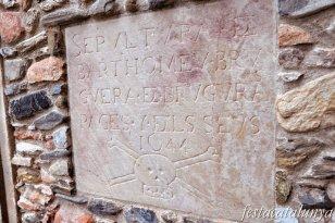 Sant Pere de Vilamajor - Església de Sant Pere (Làpida del segle XVII)