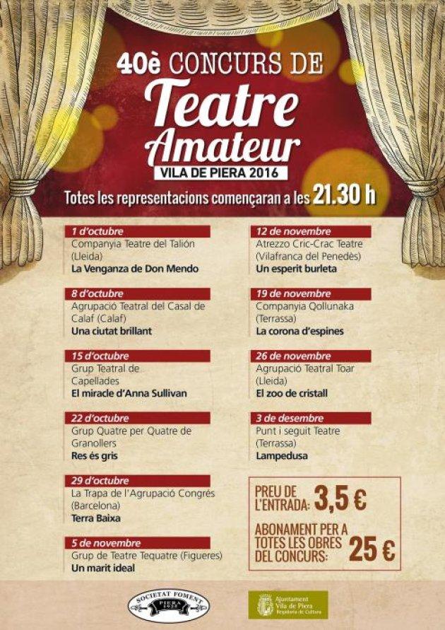Concurs de Teatre Amateur Vila de Piera