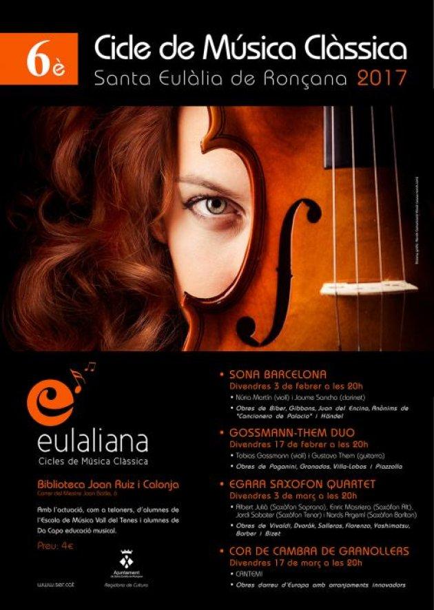Santa Eulàlia de Ronçana - Eulaliana, cicle de música clàssica