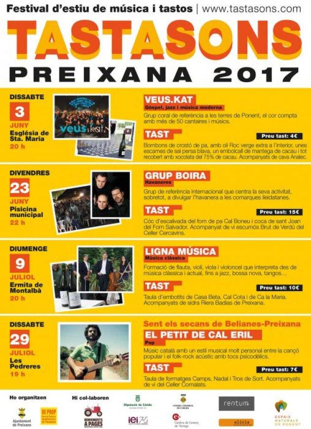 Preixana - Tastasons, Festival d'estiu de música i tastos
