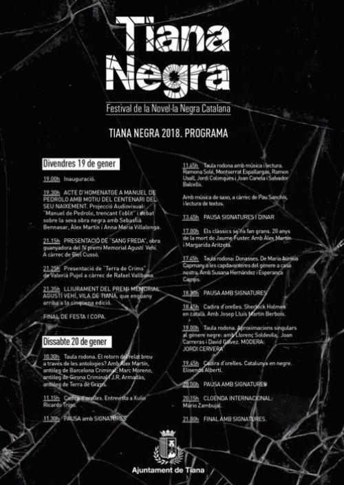 Tiana - Festival de Novel·la Negra