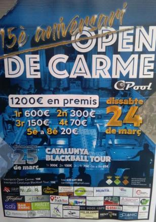 Carme - Open de Billar 8 Pool