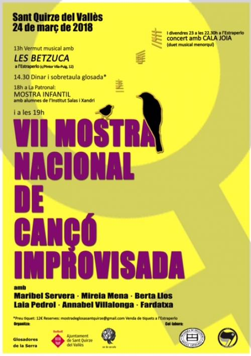 Sant Quirze del Vallès - Mostra Nacional de Cançó Improvisada