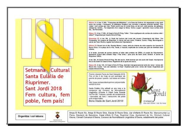 Santa Eulàlia de Riuprimer - Setmana Cultural de Sant Jordi