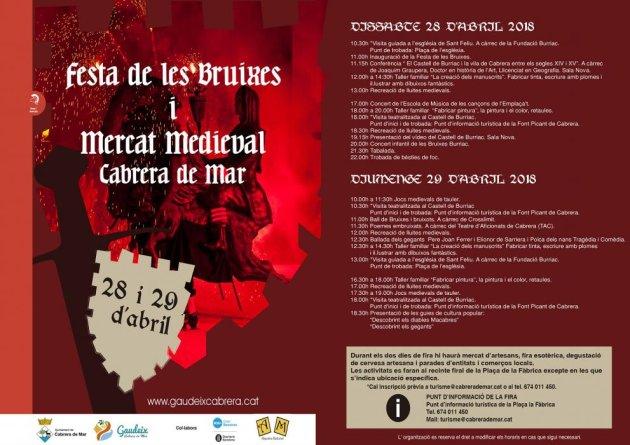 Cabrera de Mar - Festa de les Bruixes i Mercat Medieval