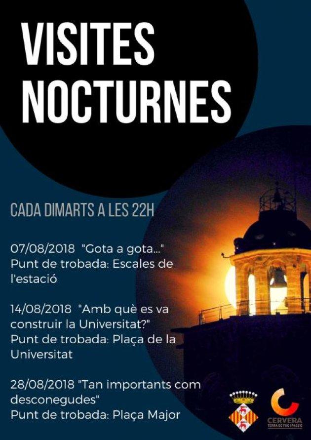 Cervera - Visites Nocturnes 2018