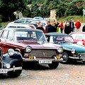 Trobada del Collsacabra, cotxes antics i clàssics veterans a l'Esquirol