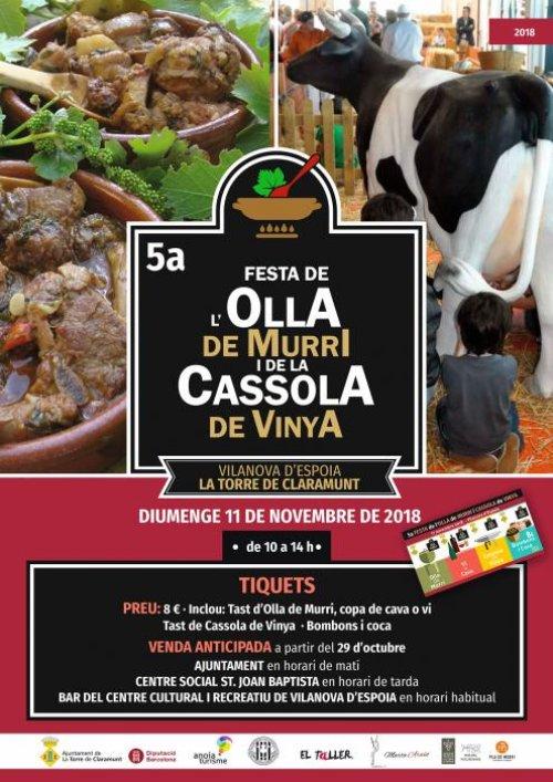 La Torre de Claramunt - Festa de la Cassola de Vinya i Olla de Murri a Vilanova d'Espoia