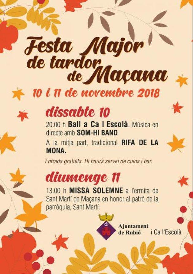 Rubió - Festa Major de Tardor de Maçana