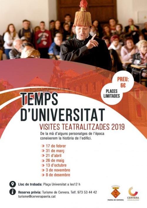 Cervera - Temps d'Universitat, Visites Teatralitzades