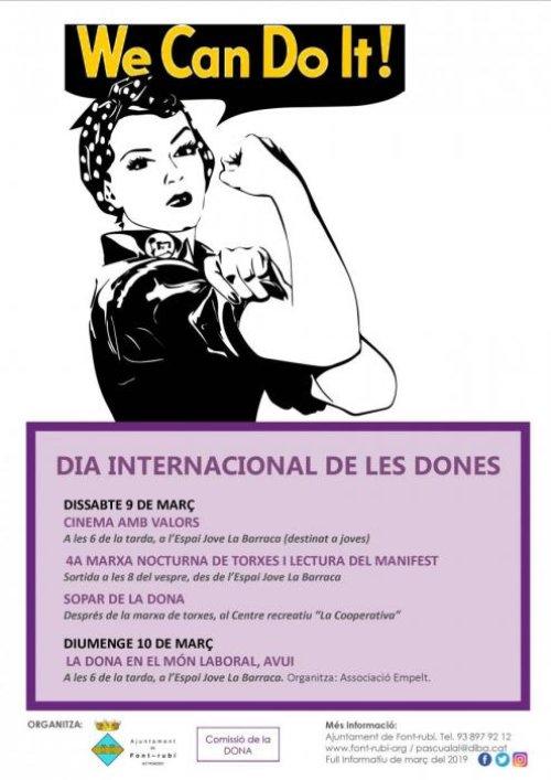 Font-rubí - Dia Internacional de les Dones