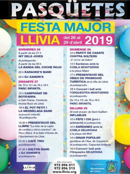Llívia - Pasqüetes, Festa Major