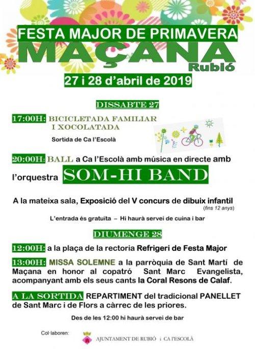 Rubió - Festa Major de Primavera de Maçana