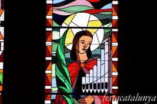 Molins de Rei - Vitralls de l'església de Sant Miquel Arcàngel - Vitralls de Santa Cecília