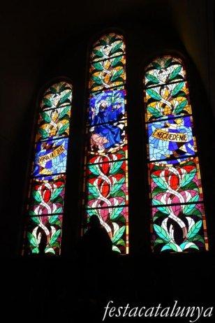 Molins de Rei - Vitralls de l'església de Sant Miquel Arcàngel - Vitralls Sant Antoni Abat