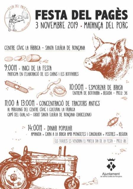Santa Eulàlia de Ronçana - Festa del Pagès, Matança del porc
