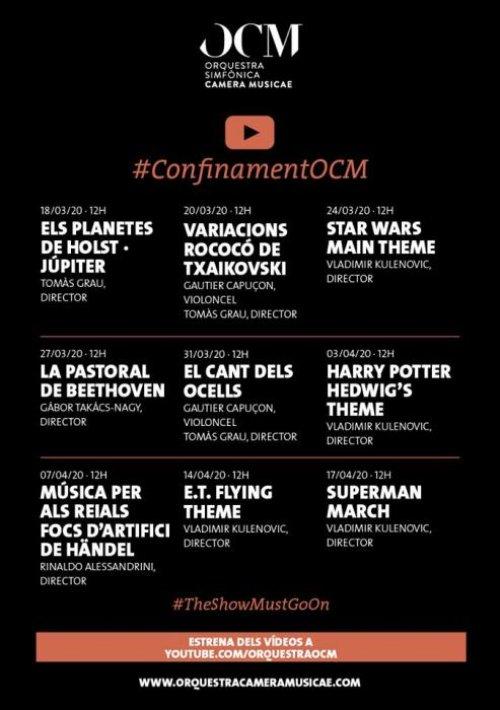 Concerts de l'OCM Orquestra Simfònica Camera Musicae