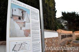 Palafrugell - Premsa de vi romana de Llafranc