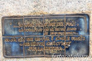 Palafrugell - Monument a Josep Pla