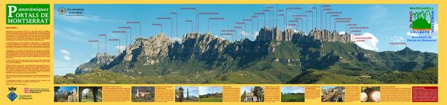 Muntanya de Montserrat des de Marganell