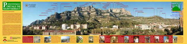 Muntanya de Montserrat des de Monistrol de Montserrat
