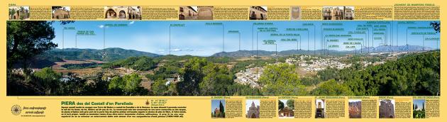 Vista de la muntanya de Montserrat des de Piera