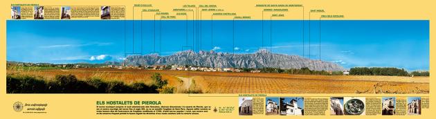 Vista de la muntanya de Montserrat des dels Hostalets de Pierola