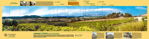Vista de la muntanya de Montserrat des de Cabrera d'Anoia