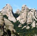 Vista de la muntanya de Montserrat des dels Hostalets de Pierola ***