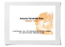 Sant Jaume dels Domenys - Antucho Fernández Brea, soldador i ferrer