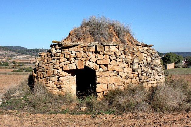 Barraca de pedra seca. Foto: Ajuntament de Sant Martí de Tous