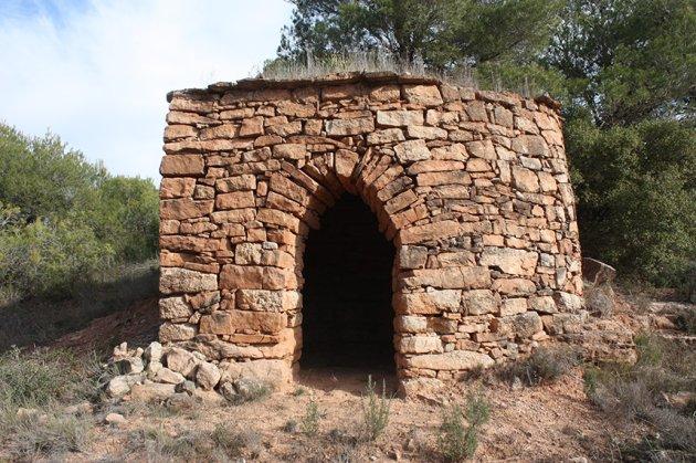 Barraca de pedra seca de ca la Quica (Foto: Ajuntament de Sant Martí de Tous)