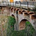 Pont romànic i riera de Caldes de Montbui