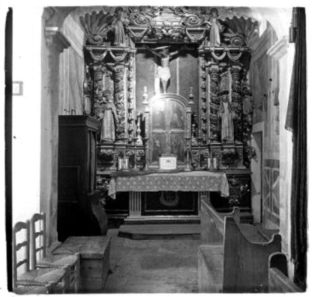 Cabrera d'Anoia - Capella de Sant Salvador del castell de Cabrera (Altar Sant Crist)