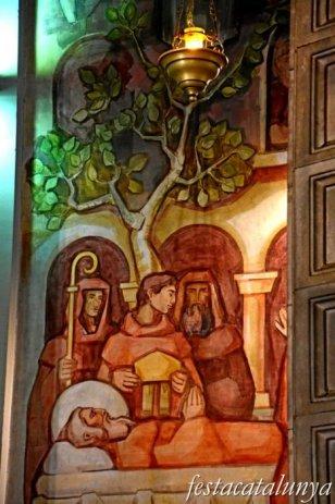 Sant Celoni - Església parroquial de Sant Martí - Murals de l'absis