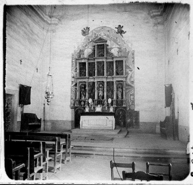 Sant Guim de Freixenet - Altar de Sant Andreu i Sant Guillem (Foto: Josep Salvany any 1923. Biblioteeca Catalunya)