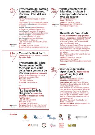 Cervera - Setmana Cultural de Sant Jordi