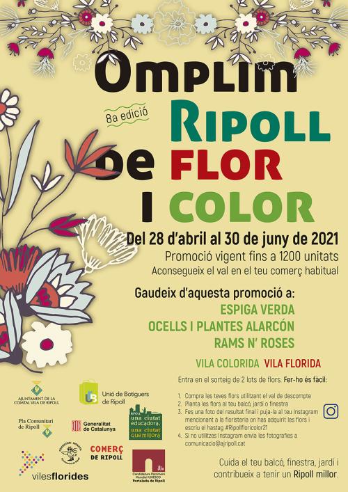 Omplim Ripoll de Flor i Color