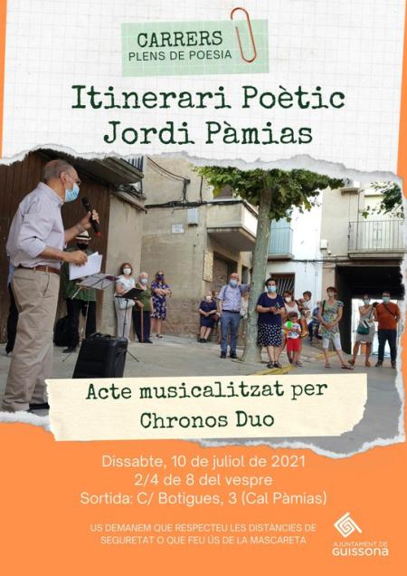 Guissona - Itinerari poètic Jordi Pàmias