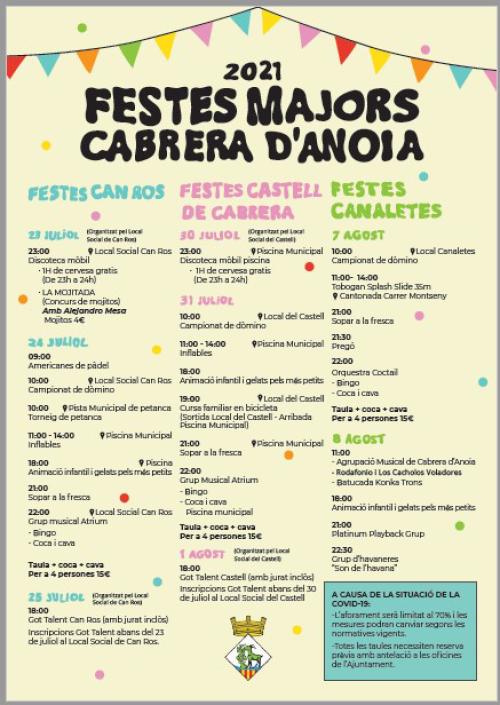 Cabrera d'Anoia - Festes Majors