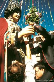 Olot - Festes del Tura (Foto: Quim Roca. Concurs de Rams per a la Gegantessa. Arxiu d'Imatges d'Olot)